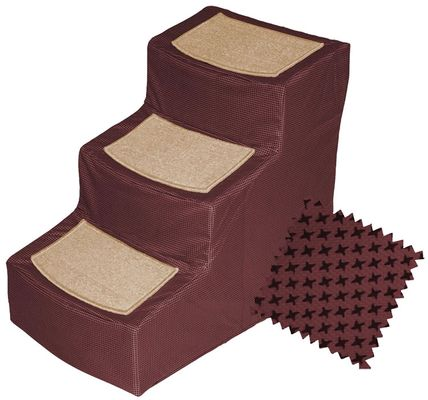 Pet Gear Designer Stair lll with Removeable Cover - Burgundy - For Dogs - from EntirelyPets