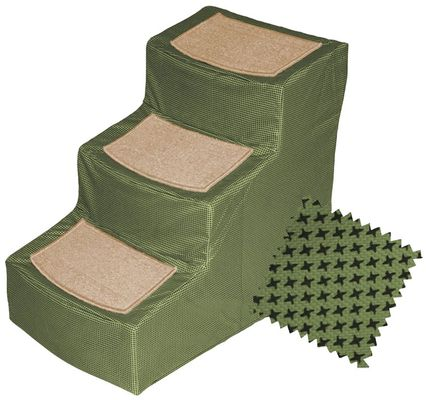 Pet Gear Designer Stair lll with Removeable Cover - Sage - For Dogs - from EntirelyPets