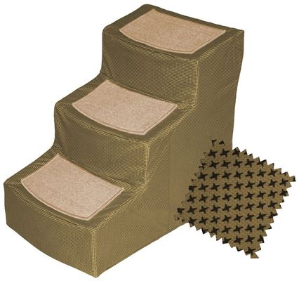 Pet Gear Designer Stair lll with Removeable Cover - Tan - For Dogs - from EntirelyPets