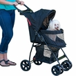 Pet Gear Happy Trails Lite No-Zip Pet Stroller - Jaguar