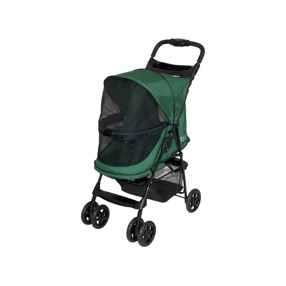 Image of Pet Gear Happy Trails No-Zip Stroller - Emerald