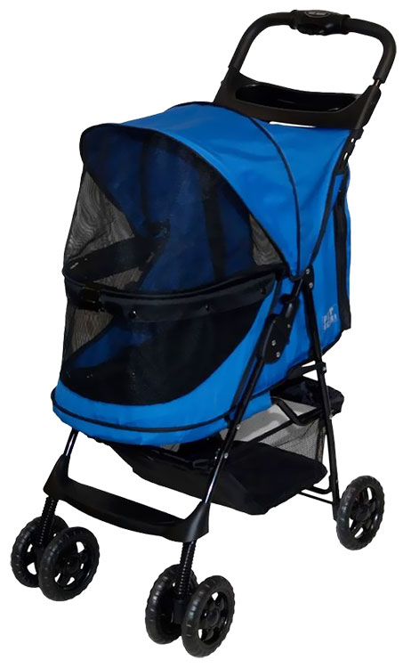 Image of Pet Gear Happy Trails No-Zip Stroller - Sapphire