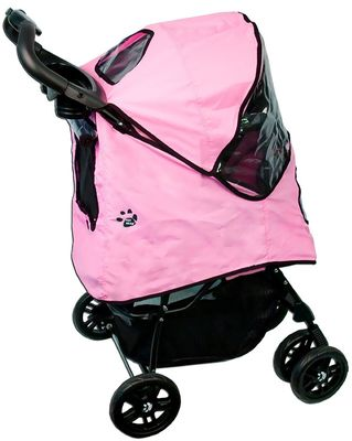 Pet Gear Happy Trails Stroller with Weather Cover - Pink Ice