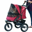 Pet Gear Jogger No-Zip Stroller - Rugged Red