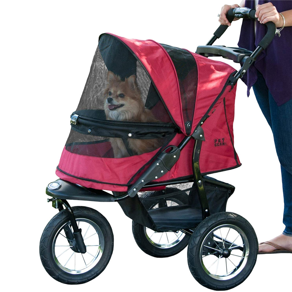 Image of Pet Gear Jogger No-Zip Stroller - Rugged Red