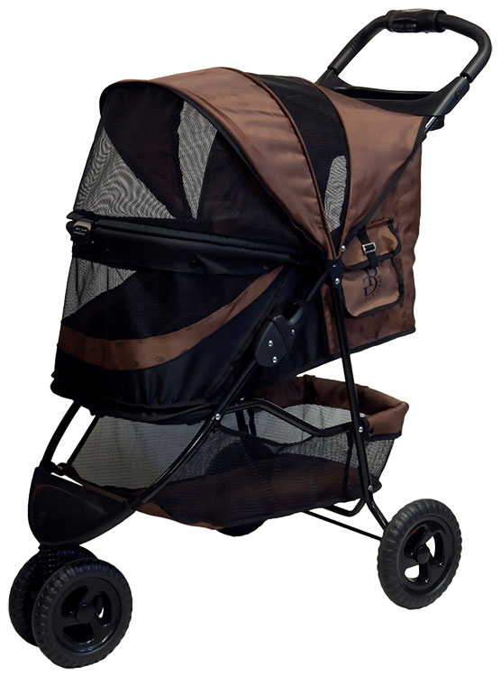 Image of Pet Gear No-Zip Special Edition Stroller - Chocolate