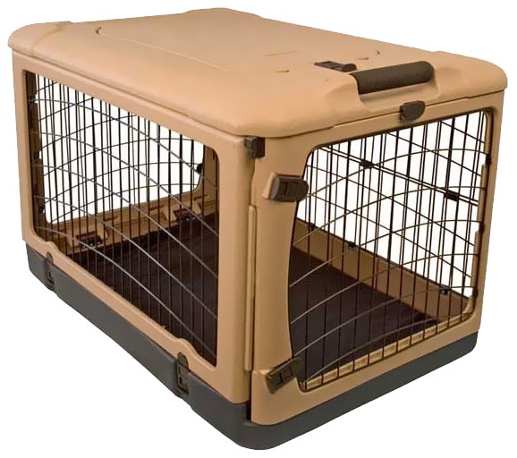PET-GEAR-THE-OTHER-DOOR-STEEL-CRATE-27-TAN-BLACK