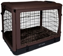 "Pet Gear The Other Door Steel Crate with Pad 27"" - Chocolate"