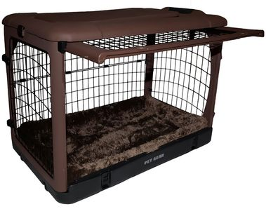 PET-GEAR-THE-OTHER-DOOR-STEEL-CRATE-WITH-PAD-27-CHOCOLATE