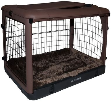 PET-GEAR-THE-OTHER-DOOR-STEEL-CRATE-WITH-PAD-42-CHOCOLATE