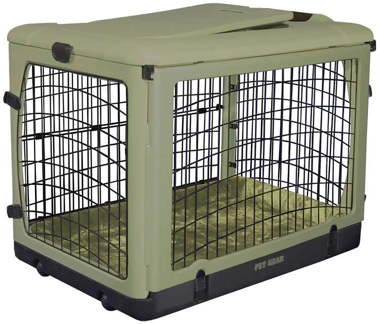 Pet Gear The Other Door Steel Crate with Plush Pad 42 - Sage