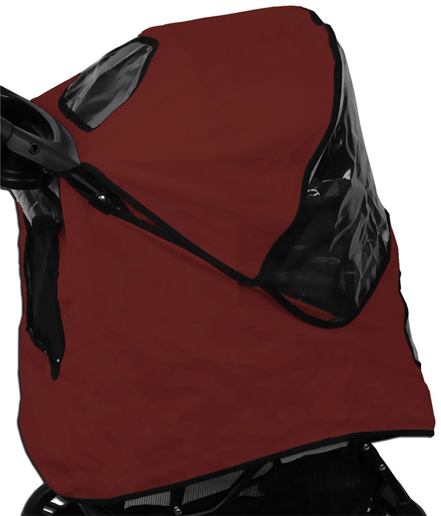 Image of Pet Gear Weather Cover for AT3 Generation ll Stroller - Red Poppy