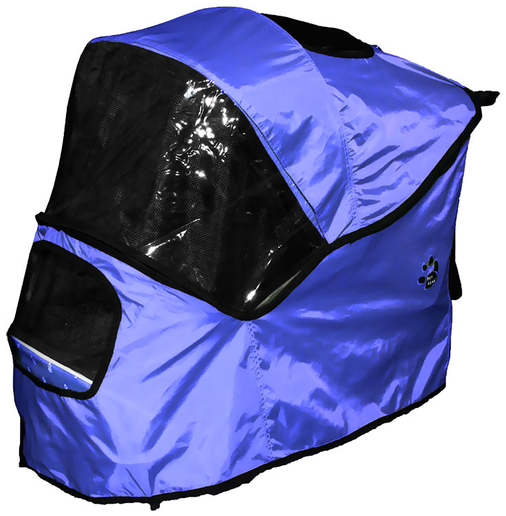 Image of Pet Gear Weather Cover for Happy Trails Stroller - Cobalt Blue