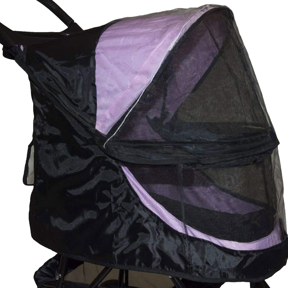 Image of Pet Gear Weather Cover For No-Zip Happy Trails - Black