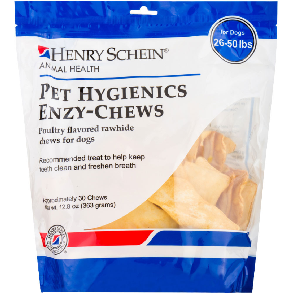 Pet Hygienics Enzy-Chews Poultry Flavored Rawhide for Dogs 26-50 lb (30 count) im test