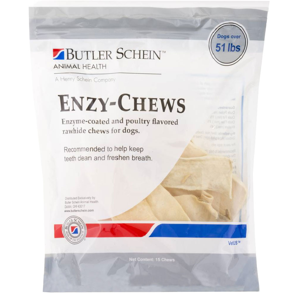 Pet Hygienics Enzy-Chews Poultry Flavored Rawhide for Dogs Over 51 lb (15 count) im test