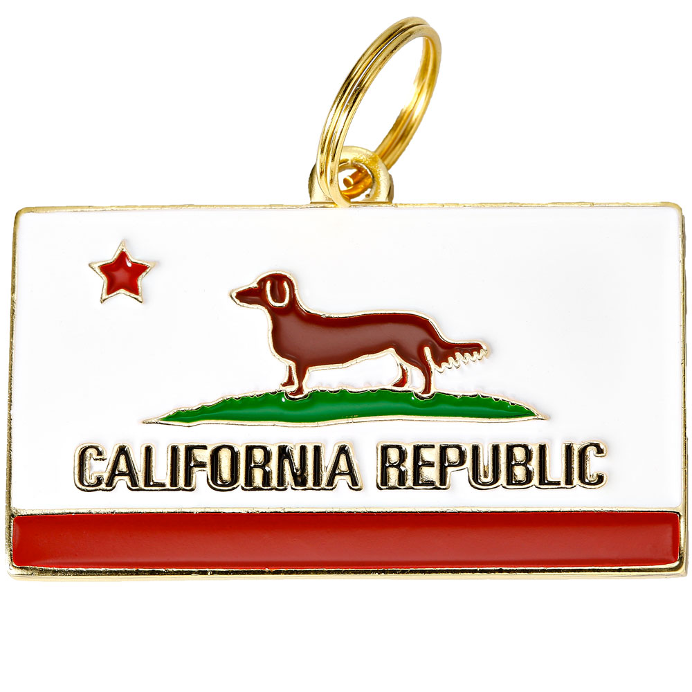 Pet ID Tag - California Republic - For Dogs - from EntirelyPets