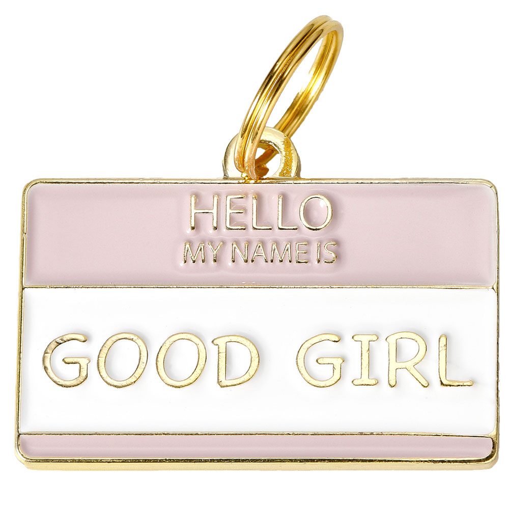 Pet ID Tag - Good Girl - For Dogs - from EntirelyPets