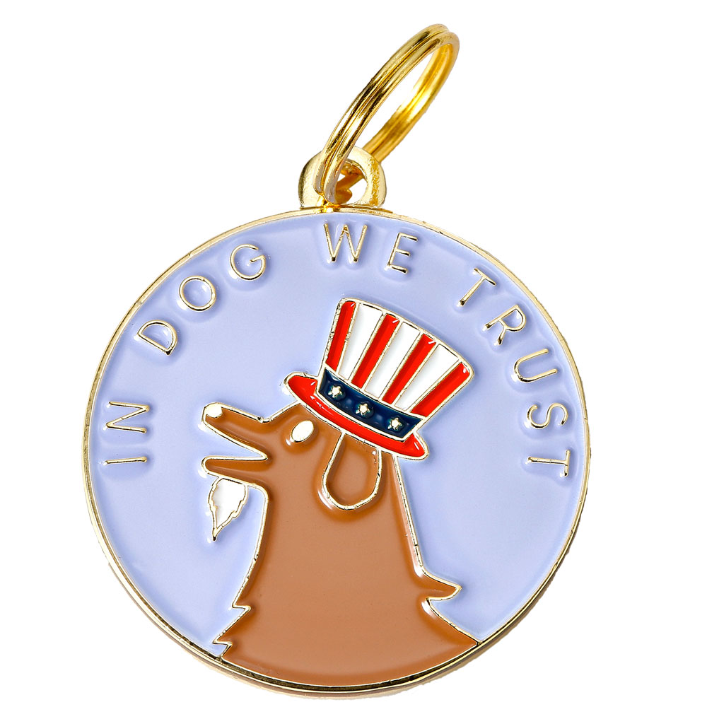 Pet ID Tag - In Dog We Trust from EntirelyPets