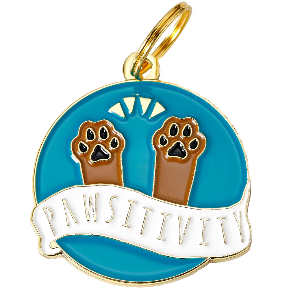 Pet ID Tag - Pawsitivity - For Dogs - from EntirelyPets