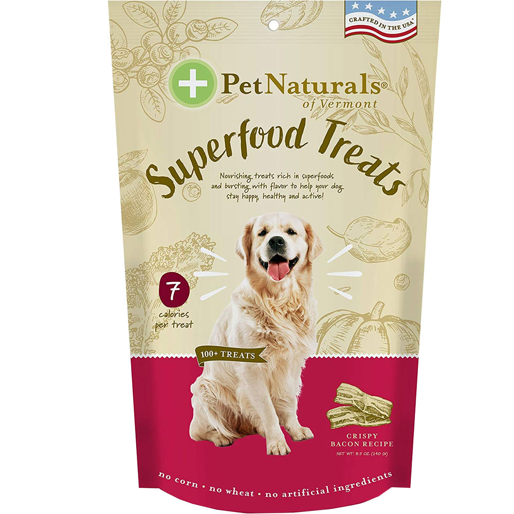 Pet Naturals of Vermont Superfood Treats for Dogs - Crispy Bacon Recipe (100+ Bite-Sized Chews) im test