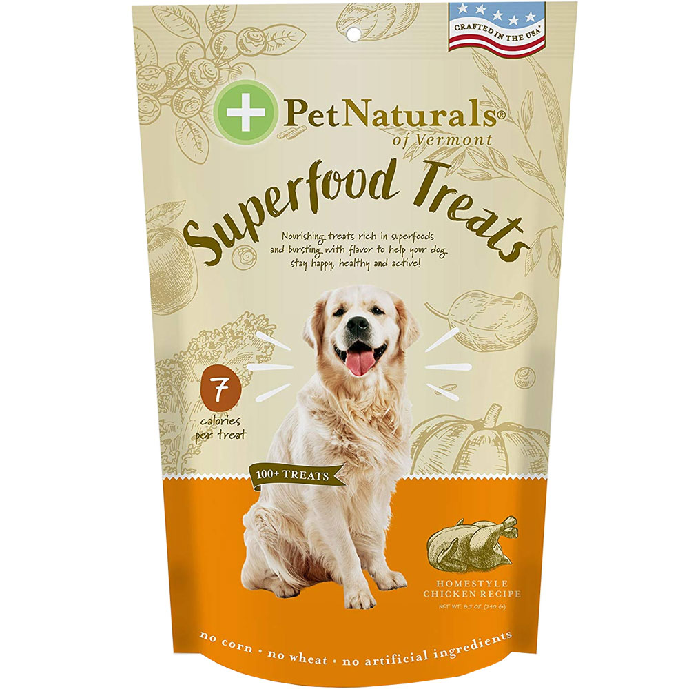 Pet Naturals of Vermont Superfood Treats for Dogs - Homestyle Chicken Recipe (100+ Bite-Sized Chews) im test