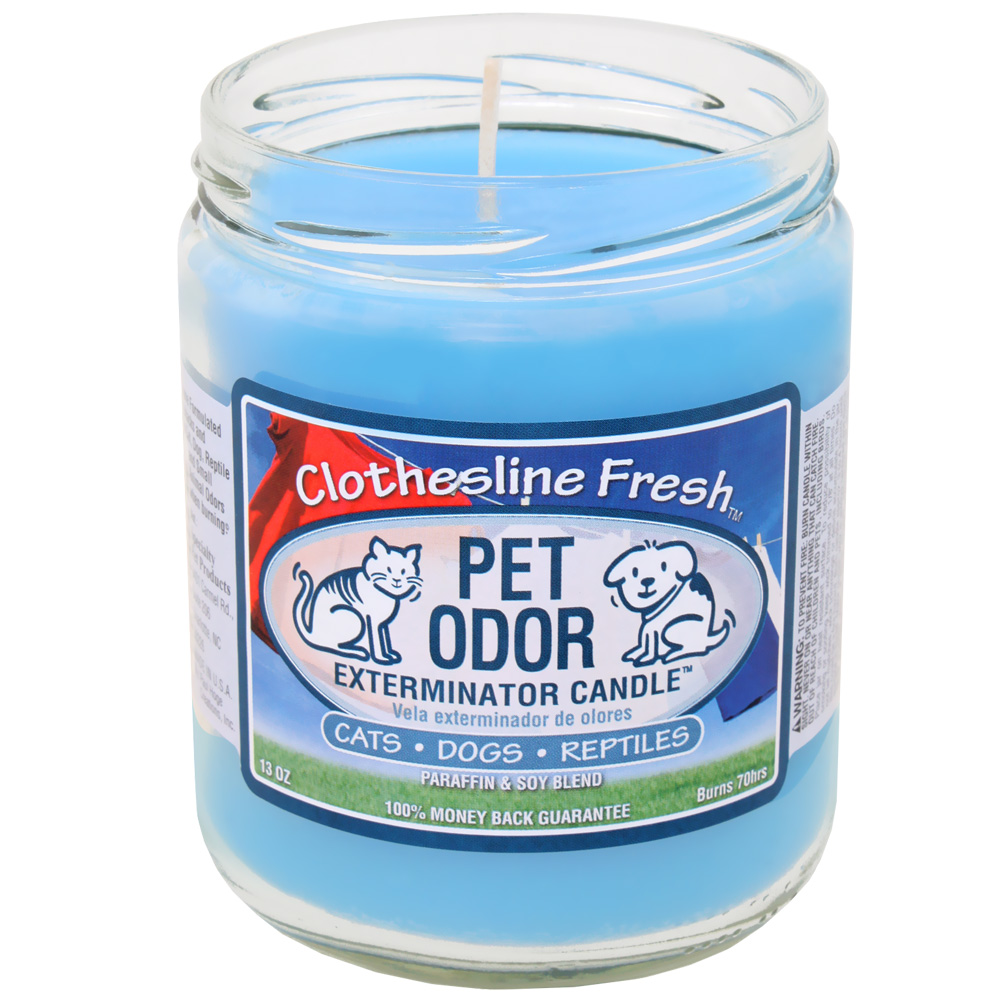 Pet Odor Exterminator Candle - Clothesline Fresh Jar - 13 oz - from EntirelyPets