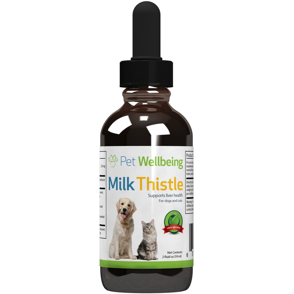 Pet Wellbeing Milk Thistle Liver Support Dog Supplement (2 oz) | On Sale | EntirelyPets