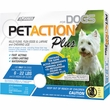 PetAction Plus Flea & Tick Treatment for Small Dogs 6-22 lbs - 3 MONTH