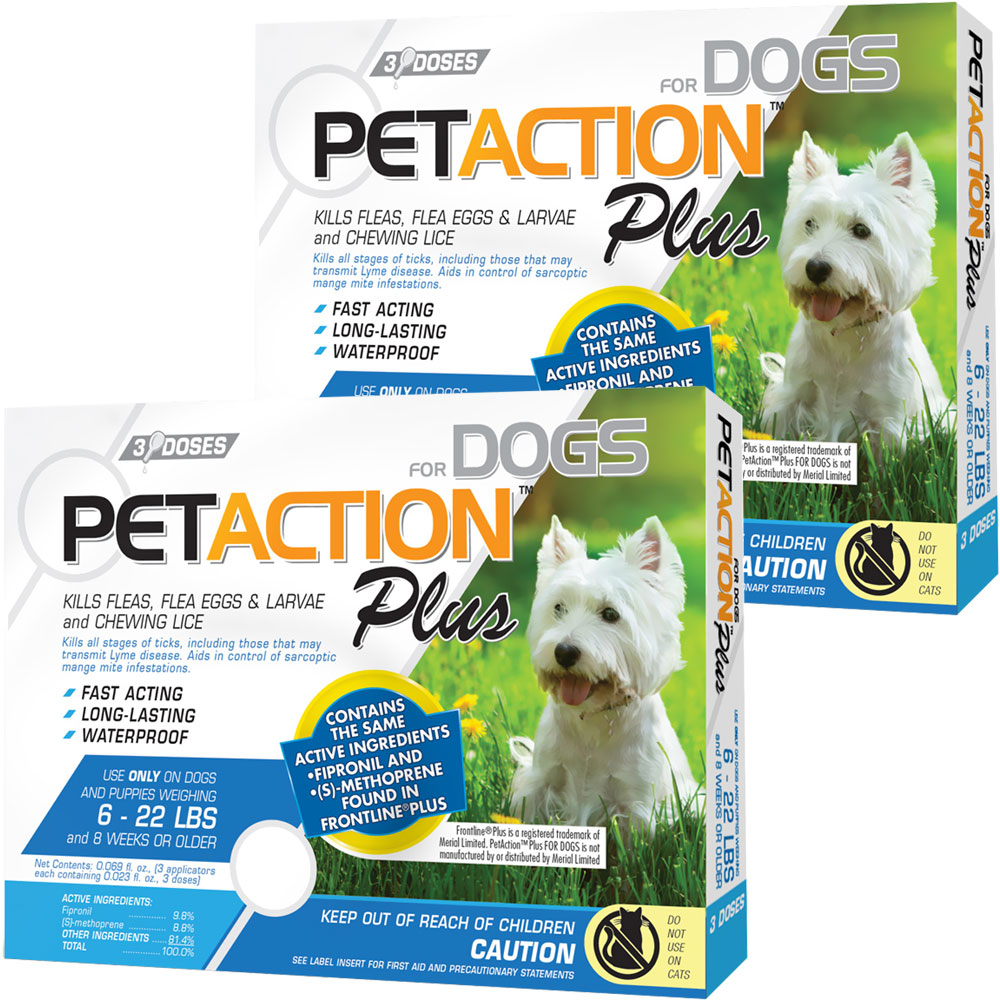 PetAction Plus Flea & Tick Treatment for Small Dogs 6-22 lbs - 6 MONTH im test