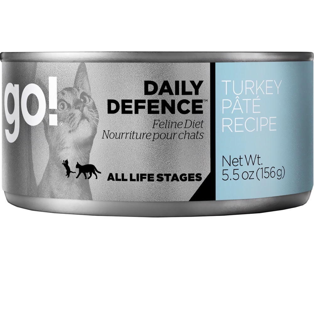 GO-DAILY-DEFENCE-CAT-FOOD-TURKEY-PATE-CANS