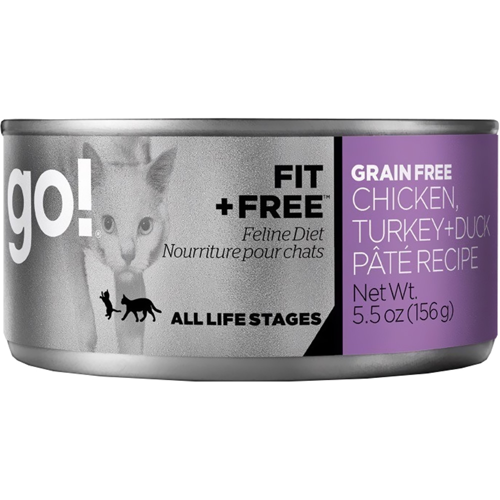 GO-FIT-FREE-CAT-FOOD-CHICKEN-TURKEY-DUCK-PATE-CANS