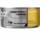 Petcurean Go! Sensitivity + Shine Cat Food - Duck Pate (24x5.5oz)