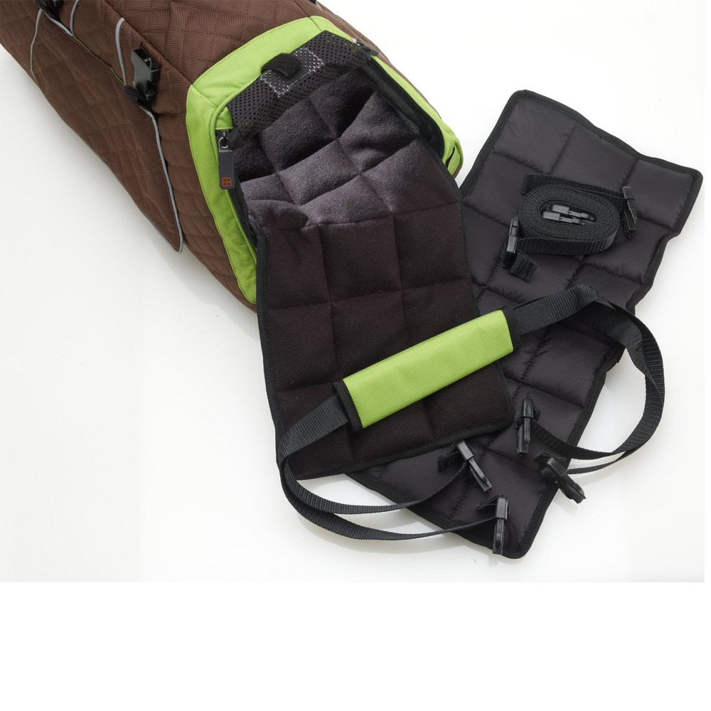 PETEGO-JET-SET-CARRIER-GREEN-BROWN-LARGE