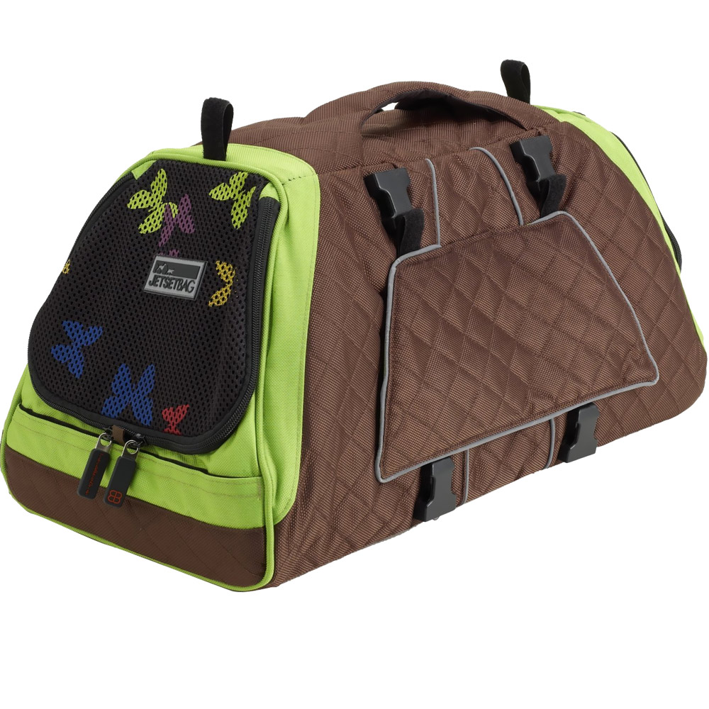 PETEGO-JET-SET-CARRIER-GREEN-BROWN-SMALL
