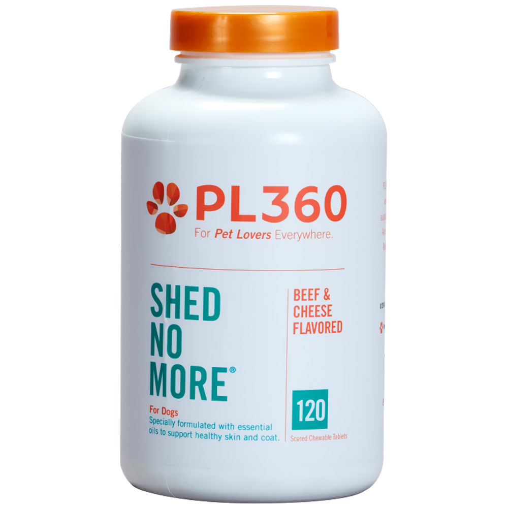 Image of PL360 Shed No More for Dogs, Beef & Cheese flavor 120 Chewable Tablets