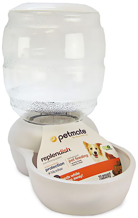 Petmate Replendish Feeder with Microban (10 lb) -Pearl White im test