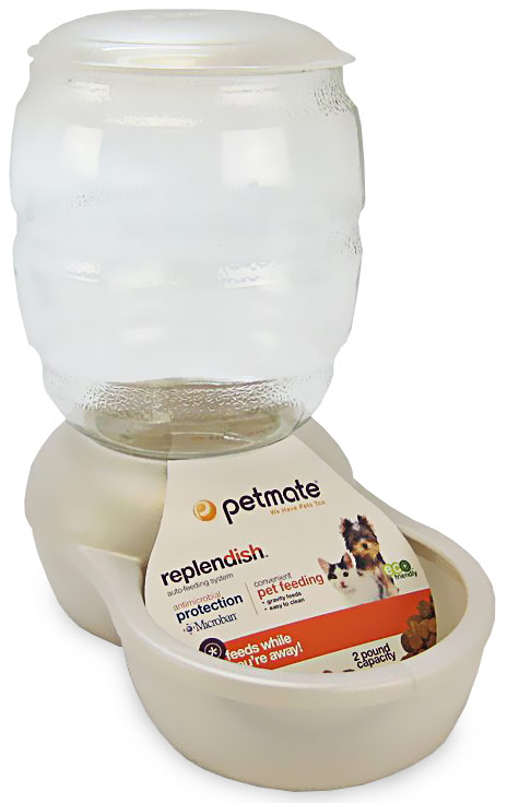 Petmate Replendish Feeder with Microban (2 lb) - Pearl White im test
