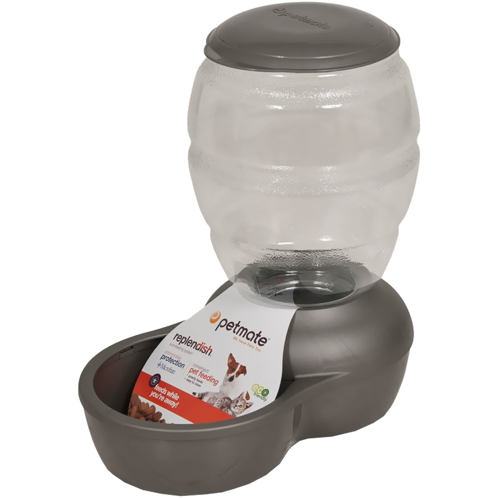 Petmate Replendish Feeder with Microban (5 lb) - Brushed Nickel im test