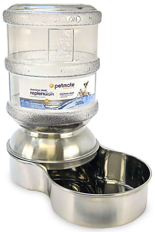 PETMATE-REPLENDISH-WATERER-SMALL-STAINLESS-STEEL
