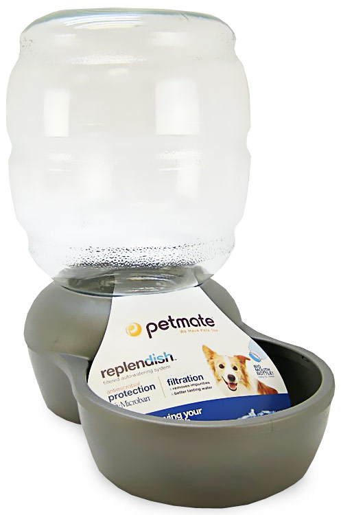 PETMATE-REPLENDISH-WATERER-MICROBAN-25-GALLON-NICKEL