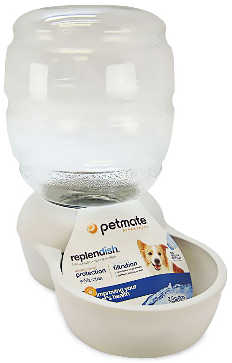 Petmate Replendish Waterer with Microban 2.5 Gallon - Pearl White im test