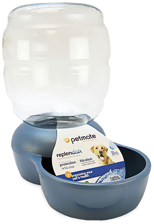 Petmate Replendish Waterer with Microban 4 Gallon - Pearl Peacock Blue im test