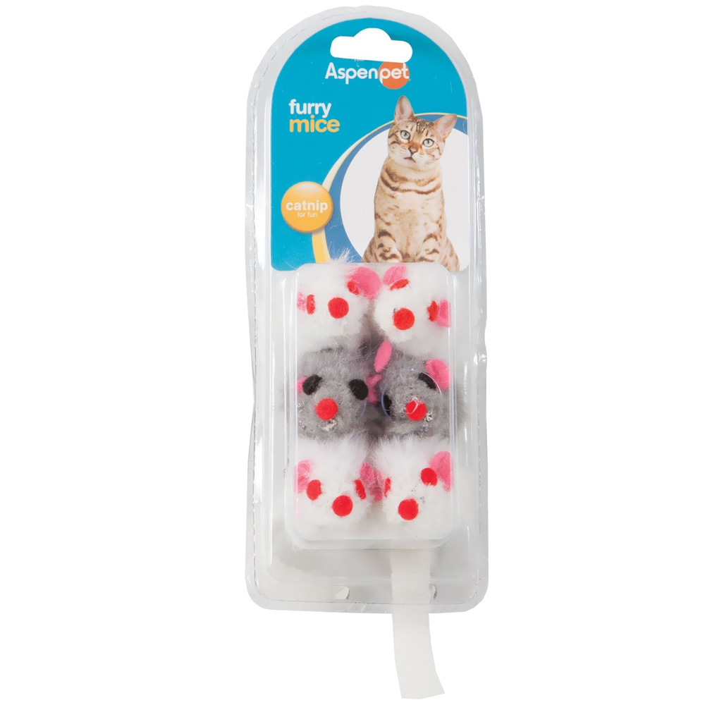 Image of Booda Petmate Soft Bite Fur Catnip Mice - Small - 6 pack - from EntirelyPets