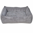 PetPals Corduroy Bed - Grey
