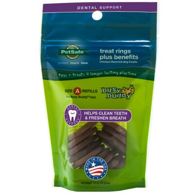 Petsafe Busy Buddy Treat Rings Plus Benefits Dental Support - Size A Refills