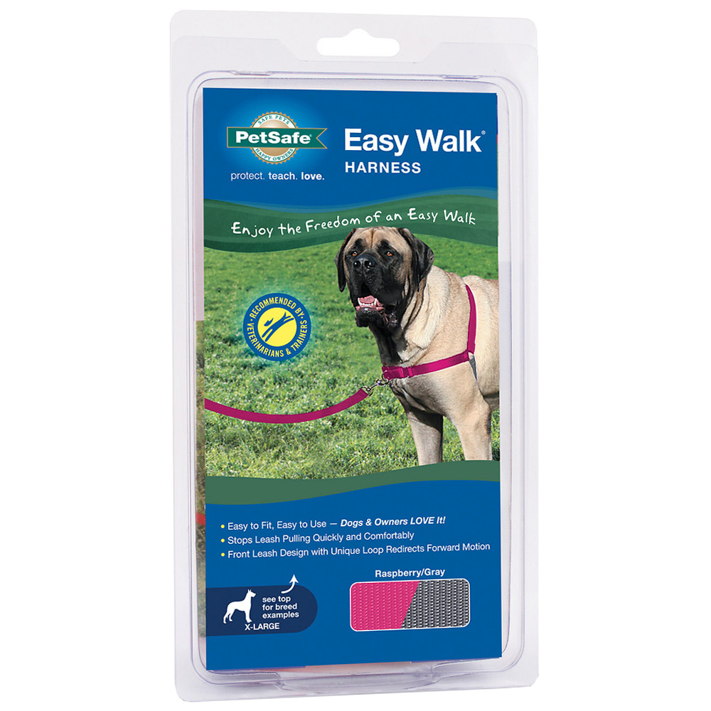 PetSafe Easy Walk Harness - Raspberry/Gray (Extra Large) im test
