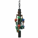 "Pipe Bell Toy with Rope - Platinum (12""x3"")"