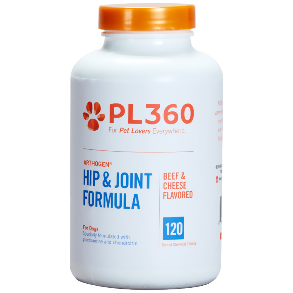 PL360 Arthogen Hip & Joint Formula for Dogs - Beef & Cheese Flavor (120 Chewable Tablets) im test