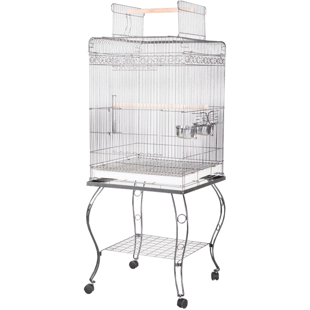 Play Top Bird Cage – Black – 20″x20″x58″ – from EntirelyPets